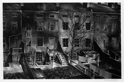 Stow Wengenroth (American, 1906-1978). <em>Brooklyn City</em>, 1932. Lithograph on BFK Rives paper, sheet: 16 x 20 1/8 in. (40.6 x 51.1 cm). Brooklyn Museum, Designated Purchase Fund, 77.234.2. © artist or artist's estate (Photo: Brooklyn Museum, 77.234.2_bw.jpg)