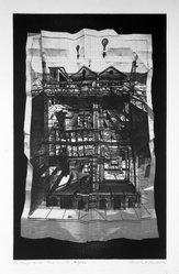 Kenneth Kerslake (American, 1930-2007). <em>The Magic House:  Terra Incognita</em>, 1975. Photo-intaglio, Sheet: 26 11/16 x 17 7/8 in. (67.8 x 45.4 cm). Brooklyn Museum, Gift of the artist, 77.69.2. © artist or artist's estate (Photo: Brooklyn Museum, 77.69.2_bw.jpg)