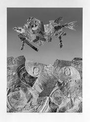 Jim McLean (American, born 1928). <em>Kittyhawk II</em>, 1975. Relief etching on paper, sheet: 29 1/2 x 36 in. (74.9 x 91.4 cm). Brooklyn Museum, Gift of the artist, 77.71.2. © artist or artist's estate (Photo: Brooklyn Museum, 77.71.2_bw.jpg)
