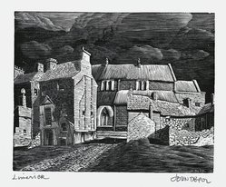John DePol (American, 1913-2004). <em>Limerick</em>, 1977. Wood engraving, Sheet: 11 x 8 1/2 in. (27.9 x 21.6 cm). Brooklyn Museum, Gift of Don Wesely, 78.101.59.5. © artist or artist's estate (Photo: Brooklyn Museum, 78.101.59.5_PS2.jpg)