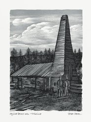 John DePol (American, 1913-2004). <em>Original Drake Well - Titusville</em>, 1959. Wood engraving, Sheet: 10 15/16 x 8 7/16 in. (27.8 x 21.4 cm). Brooklyn Museum, Gift of Don Wesely, 78.101.60.1. © artist or artist's estate (Photo: Brooklyn Museum, 78.101.60.1_PS2.jpg)