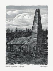 John DePol (American, 1913-2004). <em>Original Drake Well - Titusville</em>, 1959. Wood engraving, Sheet: 10 15/16 x 8 7/16 in. (27.8 x 21.4 cm). Brooklyn Museum, Gift of Don Wesely, 78.101.60.1. © artist or artist's estate (Photo: Brooklyn Museum, 78.101.60.1_PS2.jpg)