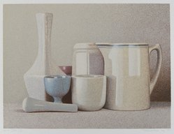 Richard Davis (American, born 1947). <em>Still Life</em>, 1977. Color serigraph, Sheet: 15 x 18 in. (38.1 x 45.7 cm). Brooklyn Museum, Designated Purchase Fund, 78.104. © artist or artist's estate (Photo: Brooklyn Museum, 78.104_PS4.jpg)