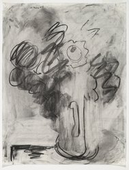 Robert De Niro Sr. (American, 1922-1993). <em>Bouquet</em>, 1973. Charcoal on paper, 25 1/2 x 19 5/8 in. (64.8 x 49.8 cm). Brooklyn Museum, Gift of Poindexter Gallery, 78.158.1. © artist or artist's estate (Photo: Brooklyn Museum, 78.158.1_PS6.jpg)