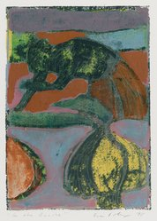 Eva Pokorny (American, born Czechoslavakia, 1949). <em>In the Ravine</em>, 1978. Monotype on paper, sheet: 10 x 8 in. (25.4 x 20.3 cm). Brooklyn Museum, Gift of the artist, 78.159.1. © artist or artist's estate (Photo: Brooklyn Museum, 78.159.1_PS4.jpg)