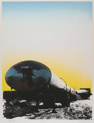 Georgette Batlle (American, born 1942). <em>F.C.</em>, 1974. Screenprint in color Brooklyn Museum, Gift of the Storm King Art Center, 78.162.5. © artist or artist's estate (Photo: Brooklyn Museum, 78.162.5_PS2.jpg)