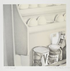 Mark Stock (American, born Germany, 1951-2014). <em>Ice Box</em>, 1977. Lithograph on paper, sheet: 21 5/8 x 20 5/8 in. (54.9 x 52.4 cm). Brooklyn Museum, Designated Purchase Fund, 78.173.2. © artist or artist's estate (Photo: Brooklyn Museum, 78.173.2_PS2.jpg)