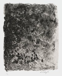 Mark Tobey (American, 1890-1976). <em>Ritual</em>, 1973. Lithograph on paper, sheet: 17 3/4 x 14 1/2 in. (45.1 x 36.8 cm). Brooklyn Museum, Gift of Everett Lowe, 78.223.2. © artist or artist's estate (Photo: Brooklyn Museum, 78.223.2_PS4.jpg)
