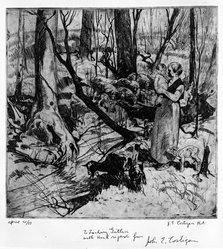John Edward Costigan (American, 1888-1972). <em>Untitled</em>, n.d. Etching Brooklyn Museum, Bequest of Samuel Zachary Gitlin, 78.54.1. © artist or artist's estate (Photo: Brooklyn Museum, 78.54.1_bw.jpg)