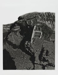 James Torlakson (American, born 1951). <em>Incident on Devils Slide</em>, 1978. Aquatint and etching on paper, sheet: 17 1/8 x 13 7/8 in. (43.5 x 35.2 cm). Brooklyn Museum, Gift of the artist, 78.99. © artist or artist's estate (Photo: Brooklyn Museum, 78.99_PS2.jpg)
