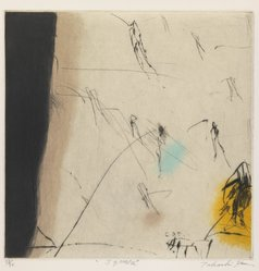 Ito Takashi (Japanese, born 1947). <em>Square</em>, ca. 1967-1978. Intaglio ( drypoint & roulette)  with chine colle, Sheet: 7 1/16 x 7 in. (17.9 x 17.8 cm). Brooklyn Museum, Designated Purchase Fund, 79.108.1. © artist or artist's estate (Photo: Brooklyn Museum, 79.108.1_IMLS_PS3.jpg)