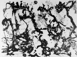 Lee Krasner (American, 1908-1984). <em>Blue Stone</em>, 1969. Lithograph, 22 3/4 x 30 1/8 in. (57.8 x 76.5 cm). Brooklyn Museum, Gift of Robert H. Haggarty, 79.207.6. © artist or artist's estate (Photo: Brooklyn Museum, 79.207.6_bw.jpg)