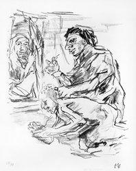 Oskar Kokoschka (Austrian, 1886-1980). <em>Illustration for Bach</em>, 1914-1915. Lithograph Brooklyn Museum, Gift of Robert B. Kitaj, 79.210. © artist or artist's estate (Photo: Brooklyn Museum, 79.210_bw.jpg)