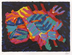 Karel Appel (Dutch, 1921-2006). <em>Devil Cat</em>, 1978. Lithograph on paper, Sheet: 24 3/4 x 32 1/4 in. (62.9 x 81.9 cm). Brooklyn Museum, Gift of Donald Waggoner, 79.222.10. © artist or artist's estate (Photo: Brooklyn Museum, 79.222.10_PS9.jpg)