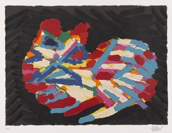 Karel Appel (Dutch, 1921-2006). <em>House Cat</em>, 1978. Lithograph on paper, Sheet: 24 3/4 x 32 1/4 in. (62.9 x 81.9 cm). Brooklyn Museum, Gift of Donald Waggoner, 79.222.11. © artist or artist's estate (Photo: Brooklyn Museum, 79.222.11_PS9.jpg)