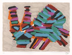 Karel Appel (Dutch, 1921-2006). <em>Frightened Cat</em>, 1978. Lithograph on paper, Sheet: 24 3/4 x 32 1/4 in. (62.9 x 81.9 cm). Brooklyn Museum, Gift of Donald Waggoner, 79.222.12. © artist or artist's estate (Photo: Brooklyn Museum, 79.222.12_PS9.jpg)