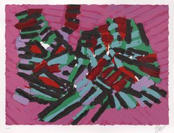 Karel Appel (Dutch, 1921-2006). <em>About a Cat</em>, 1978. Lithograph on paper, Sheet: 24 3/4 x 32 1/4 in. (62.9 x 81.9 cm). Brooklyn Museum, Gift of Donald Waggoner, 79.222.15. © artist or artist's estate (Photo: Brooklyn Museum, 79.222.15_PS9.jpg)