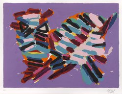 Karel Appel (Dutch, 1921-2006). <em>Innocent Cat</em>, 1978. Lithograph on paper, Sheet: 24 3/4 x 32 1/4 in. (62.9 x 81.9 cm). Brooklyn Museum, Gift of Donald Waggoner, 79.222.16. © artist or artist's estate (Photo: Brooklyn Museum, 79.222.16_PS9.jpg)
