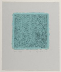 Taj Diffenbaugh Worley (American, 1947-1987). <em>Blue Waves</em>, 1979. Intaglio on paper, sheet: 6 1/2 x 6 1/2 in. (16.5 x 16.5 cm). Brooklyn Museum, Designated Purchase Fund, 79.231.4. © artist or artist's estate (Photo: Brooklyn Museum, 79.231.4_PS2.jpg)