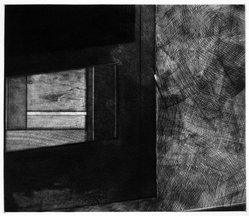 Keith A. Achepohl (American, born 1934). <em>Mura IV</em>, 1978. Etching, soft-ground, sanding, mezzotint, roulette on paper, Plate: 15 13/16 x 13 5/8 in. (40.1 x 34.6 cm). Brooklyn Museum, Designated Purchase Fund, 79.56.1. © artist or artist's estate (Photo: Brooklyn Museum, 79.56.1_bw.jpg)