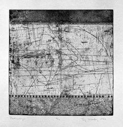 Taj Diffenbaugh Worley (American, 1947-1987). <em>Pathways</em>, 1977. Etching on paper, sheet: 16 1/8 x 14 7/8 in. (41 x 37.8 cm). Brooklyn Museum, Designated Purchase Fund, 79.60.1. © artist or artist's estate (Photo: Brooklyn Museum, 79.60.1_bw.jpg)