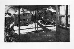 Jane E. Goldman (American, born 1951). <em>Norris Court # 4</em>, 1977. Photo - etching with aquatint Brooklyn Museum, Designated Purchase Fund, 79.61. © artist or artist's estate (Photo: Brooklyn Museum, 79.61_bw.jpg)