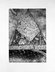 Michael McGowan (American, born 1952). <em>Untitled</em>, 1978. Etching on paper, sheet: 23 1/8 x 18 1/4 in. (58.7 x 46.4 cm). Brooklyn Museum, Designated Purchase Fund, 79.65.3. © artist or artist's estate (Photo: Brooklyn Museum, 79.65.3_bw.jpg)