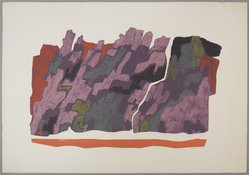 Clare Romano (American, born 1922). <em>Magic Mountain</em>, 20th century. Collograph in color, Arches cover, 26 5/8 x 38 1/16 in. (67.6 x 96.6 cm). Brooklyn Museum, Gift of the artist, 80.138.5. © artist or artist's estate (Photo: , 80.138.5_PS9.jpg)