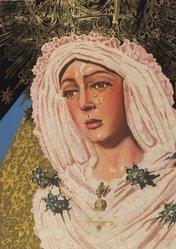 Audrey Flack (American, born 1931). <em>Lady Madonna</em>, 1972-1973. Lithograph and screenprint, 34 x 23 7/8 in. (86.4 x 60.6 cm). Brooklyn Museum, Gift of David Saks, 80.301.6. © artist or artist's estate (Photo: Brooklyn Museum, 80.301.6.jpg)
