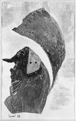 Katsura Yukiko (Japanese, born 1913). <em>[Untitled]</em>, ca. 1955. Gouache on paper, Image: 9 x 5 5/8 in. (22.9 x 14.3 cm). Brooklyn Museum, Gift of Dr. Hugo Munsterberg, 80.43.3. © artist or artist's estate (Photo: Brooklyn Museum, 80.43.3_bw_IMLS.jpg)