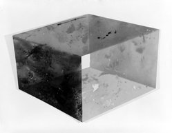 Ronald Wendel Davis (American, born 1937). <em>Four Sided Cube</em>, 1970. Polyester resin and fiberglass, 29 7/8 x 41 1/2 in. (75.9 x 105.4 cm). Brooklyn Museum, Gift of Dr. and Mrs. Robert A. Mandelbaum, 80.44. © artist or artist's estate (Photo: Brooklyn Museum, 80.44_bw.jpg)