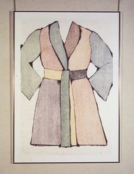 Jim Dine (American, born 1935). <em>Bath Robe</em>, 1974-1975. Woodcut and lithograph, 36 1/16 x 24 7/16 in. (91.6 x 62 cm). Brooklyn Museum, Gift of Donald Saff, 80.54. © artist or artist's estate (Photo: Brooklyn Museum, 80.54_transpc001.jpg)