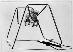 James Torlakson (American, born 1951). <em>Bondage</em>, 1980. Graphite on paper, image: 25 5/16 x 35 5/16 in. (64.3 x 89.7 cm). Brooklyn Museum, Designated Purchase Fund, 80.63. © artist or artist's estate (Photo: Brooklyn Museum, 80.63_bw.jpg)