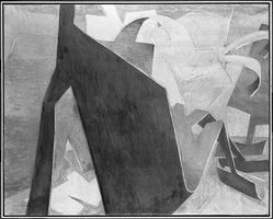 Jasha Green (American, 1923-2006). <em>Treatment</em>, 1977. Oil on canvas, Canvas: 48 1/8 x 60 1/8 in. (122.2 x 152.7 cm). Brooklyn Museum, Gift of Joseph P. Carroll, 80.78.4. © artist or artist's estate (Photo: Brooklyn Museum, 80.78.4_bw.jpg)