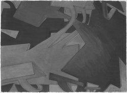 Jasha Green (American, 1923-2006). <em>Treatment</em>, 1976. Gouache and crayon on paper, 26 x 34 in. (66 x 86.4 cm) framed. Brooklyn Museum, Gift of Joseph P. Carroll, 80.78.7. © artist or artist's estate (Photo: Brooklyn Museum, 80.78.7_bw.jpg)