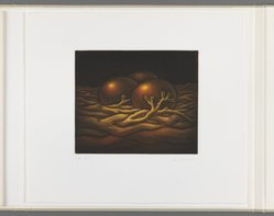 Kazuhisa Honda (Japanese, born 1948). <em>Quickening</em>, 1981. Mezzotint, Folio: 10 5/8 x 12 1/16 in. (27 x 30.6 cm). Brooklyn Museum, Gift of Gene Baro, 81.137.5. © artist or artist's estate (Photo: Brooklyn Museum, 81.137.5_IMLS_PS3.jpg)