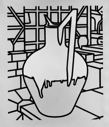 Patrick Caulfield (British, 1936-2005). <em>Jug</em>, n.d. Serigraph on wove paper Brooklyn Museum, Gift of James W. Dye, 81.224.5. © artist or artist's estate (Photo: Brooklyn Museum, 81.224.5_bw.jpg)