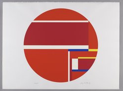 Ilya Bolotowsky (American, born Russia, 1907-1981). <em>Untitled</em>, 1979. Screenprint on paper, Circle: 22 1/8 x 29 5/8 in. (56.2 x 75.2 cm). Brooklyn Museum, Gift of Dr. and Mrs. Kenneth Lawrence, 81.237.3. © artist or artist's estate (Photo: Brooklyn Museum, 81.237.3_PS6.jpg)