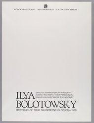 Ilya Bolotowsky (American, born Russia, 1907-1981). <em>Combined Title and Colophon Page</em>, 1979. Screenprint Brooklyn Museum, Gift of Dr. and Mrs. Kenneth Lawrence, 81.237.5. © artist or artist's estate (Photo: Brooklyn Museum, 81.237.5_PS6.jpg)