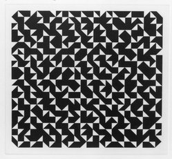 Anni Albers (American, 1899-1994). <em>Triangulated Intaglios I</em>, 1976. Etching, aquatint on paper, Sheet: 24 x 20 in. (61 x 50.8 cm). Brooklyn Museum, Gift of Studebaker-Worthington, Inc., 81.24.2. © artist or artist's estate (Photo: Brooklyn Museum, 81.24.2_bw.jpg)