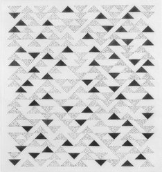 Anni Albers (American, 1899-1994). <em>Triangulated Intaglios VI</em>, 1976. Etching, aquatint on paper, Sheet: 24 x 20 in. (61 x 50.8 cm). Brooklyn Museum, Gift of Studebaker-Worthington, Inc., 81.24.3. © artist or artist's estate (Photo: Brooklyn Museum, 81.24.3_bw.jpg)