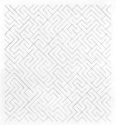 Anni Albers (American, 1899-1994). <em>Triangulated Intaglios V</em>, 1976. Etching, aquatint on paper, Sheet: 24 x 20 in. (61 x 50.8 cm). Brooklyn Museum, Gift of Studebaker-Worthington, Inc., 81.24.6. © artist or artist's estate (Photo: Brooklyn Museum, 81.24.6_bw.jpg)