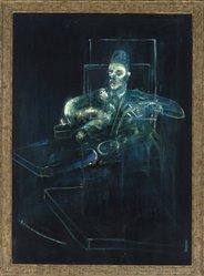 Francis Bacon (British, 1909-1992). <em>Pope</em>, 1956-1958. Oil on canvas, 77 1/8 × 55 1/8 in., 103 lb. (195.9 × 140 cm). Brooklyn Museum, Gift of Olga H. Knoepke, 81.306. © artist or artist's estate (Photo: Brooklyn Museum, 81.306_SL1.jpg)