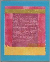 Esta Nesbitt (American, 1918-1975). <em>[Untitled]</em>, October 13, 1971. Color Xerox, sheet: 19 13/16 x 15 7/8 in. (50.3 x 40.3 cm). Brooklyn Museum, Gift of Saul Nesbitt, 82.150.12. © artist or artist's estate (Photo: Brooklyn Museum, 82.150.12_PS2.jpg)