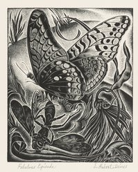 Ernest Hubert Deines (American, 1894-1967). <em>Fabulous Episode</em>, ca. 1945. Wood engraving Brooklyn Museum, Gift of Mr. and Mrs. Peter P. Pessutti, 82.204.1. © artist or artist's estate (Photo: Brooklyn Museum, 82.204.1_PS4.jpg)