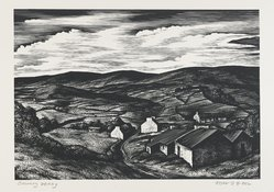 John DePol (American, 1913-2004). <em>County Derry</em>, 1959. Wood engraving Brooklyn Museum, Gift of Mr. and Mrs. Peter P. Pessutti, 82.204.2. © artist or artist's estate (Photo: Brooklyn Museum, 82.204.2_PS4.jpg)