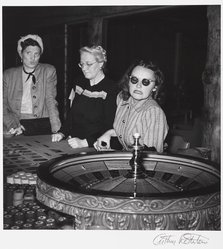 Arthur Rothstein (American, 1915-1985). <em>Gamblers, Las Vegas, Nevada</em>, 1937. Gelatin silver photograph, Sheet: 14 x 10 7/8 in. (35.6 x 27.6 cm). Brooklyn Museum, Gift of Robert Smith, 82.256.17. © artist or artist's estate (Photo: Brooklyn Museum, 82.256.17_PS9.jpg)