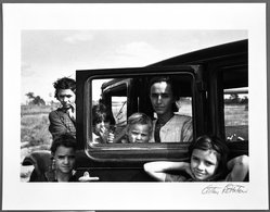 Arthur Rothstein (American, 1915-1985). <em>Migrant family, Oklahoma</em>, 1936. Gelatin silver photograph Brooklyn Museum, Gift of Robert Smith, 82.256.4. © artist or artist's estate (Photo: Brooklyn Museum, 82.256.4_bw.jpg)