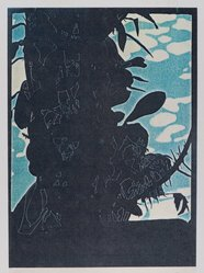 John Overton (American, born 1948). <em>Back to the Islands</em>, 1977. Xerox print on paper, sheet: 12 x 8 1/8 in. (30.5 x 20.6 cm). Brooklyn Museum, Frank L. Babbott Fund, 82.55.1. © artist or artist's estate (Photo: Brooklyn Museum, 82.55.1_PS4.jpg)