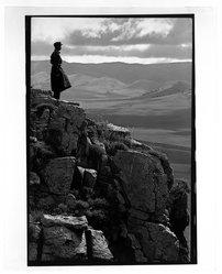 Eve Arnold (American, 1912-2012). <em>Inner Mongolian Steppes/Cowboy</em>, 1979. Dye transfer chromogenic photograph, image: 18 3/8 x 12 1/4 in. (46.7 x 31.1 cm). Brooklyn Museum, Gift of the artist in memory of Gene Baro, 83.128.1. © artist or artist's estate (Photo: Brooklyn Museum, 83.128.1_bw.jpg)